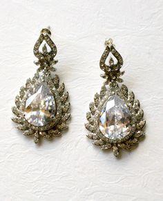Exquisite wedding crystal stud earrings.  by OnlyHandmadeJewelry, $59.00