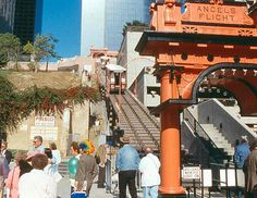 Angel's Flight| NEW- 2-24-96 opening with Huell Howser | NEW- 2-24-96 opening with Huell Howser (at left)