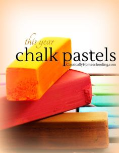 This year we're giving chalk pastels a try for art lessons. They're easy to find, cheap to purchase, and suitable for all ages! Chalk Pastel Art, Chalk Pastels, Lessons For Kids, Art Lessons, Drawing Lessons, Classical Education, Art Curriculum, Teaching Art, Teaching Ideas