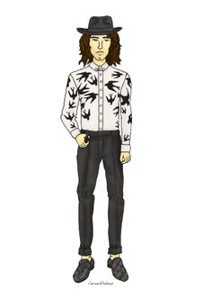 Look of the Week - styled by me and illustrated by Clare Nield.