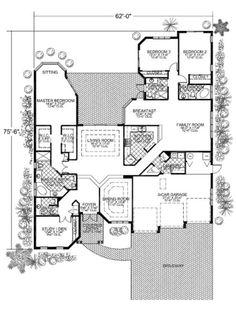 Houseplans.com Main Floor Plan Plan #420-213 - 2,897sqft