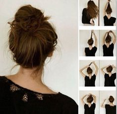 Halflang Haar Opsteken Makkelijk Kapsels In 2019 Hair Styles