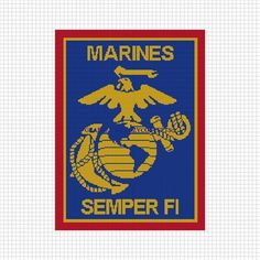 COZYCONCEPTS MARINES EAGLE ANCHOR CROCHET AFGHAN PATTERN GRAPH EMAILED .PDF | CozyConcepts - Patterns on ArtFire
