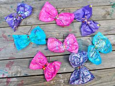Beaded safety pin butterflies