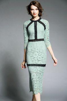 Lace Cut Out Bodycon Dress. DEZZAL.com £60.40 Size LARGE