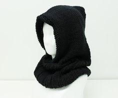 コトネで編む フード付きネックウォーマー   手作りレシピ   クロバー株式会社 Knitting Patterns, Arts And Crafts, Crochet, Hats, Diy Ideas, Winter, Fashion, Accessories, Knit Patterns
