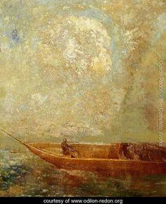 Le Barque - Odilon Redon - www.odilon-redon.org