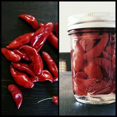 Chilies in vinegar by Chicks with Knives