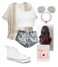 """""""Tumblr summer"""" by bep2002 ❤ liked on Polyvore featuring Victoria's Secret, Converse, Topshop, One Teaspoon, Acne Studios, women's clothing, women, female, woman and misses"""