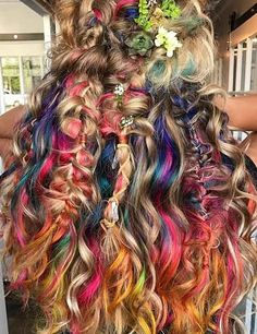 10 Amazing mermaid hair colour ideas – My hair and beauty Bohemian Hairstyles, Funky Hairstyles, Pretty Hairstyles, Pelo Multicolor, Pretty Hair Color, Hippie Hair, Pelo Natural, Hair Dye Colors, Wild Hair