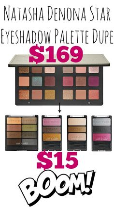 Create your own Natasha Denona Star Eyeshadow Palette Dupe for only $15! YES!!!