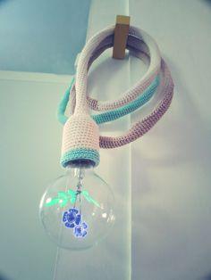 pantoffi new color way color block crochet light - Abat Jour Color