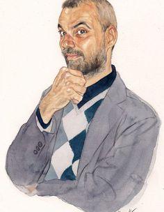 Portraits for the Republic | Riccardo Mannelli Watercolor Portraits, The Republic, Art