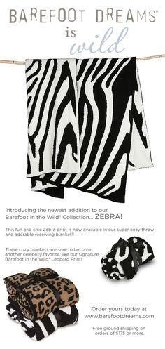 Barefoot in the Wild - Zebra Print!