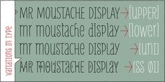 Mr. Moustache font. Love it! Again, another handwritten one. This one has a little more flare than Strangelove or Paris.