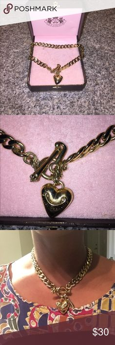 NWOT Juicy Couture Gold Necklace NWOT Juicy Couture Gold Necklace. The length of the necklace is 17in. Original Juicy Couture box included. Juicy Couture Jewelry Necklaces