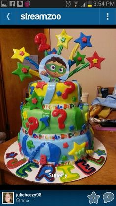 Super Why cake Cake Birthdays and Birthday party ideas