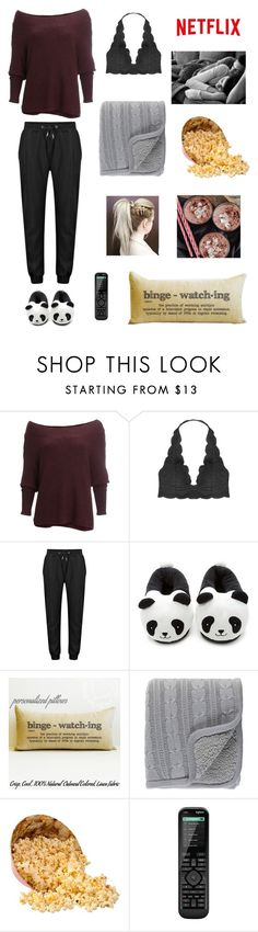 """Lazy Day"" by cweyk ❤ liked on Polyvore featuring Free People, Humble Chic, Forever 21, Surya and Logitech"
