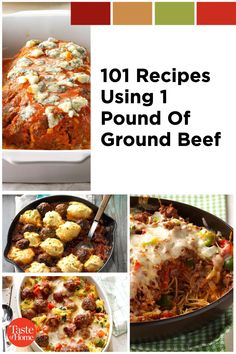 Here's what to do with a pound of ground beef so it never gets boring! Slow Cooked Meals, Taste Of Home, 1 Pound, Ground Beef Recipes, Recipe Using, Spice Things Up, Lasagna, Slow Cooker, Dinner Recipes