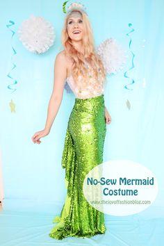 Pretty Homemade Mermaid Costume. Click through for tutorial  sc 1 st  Pinterest & 41 Super Creative DIY Halloween Costumes for Teens | Mermaid ...