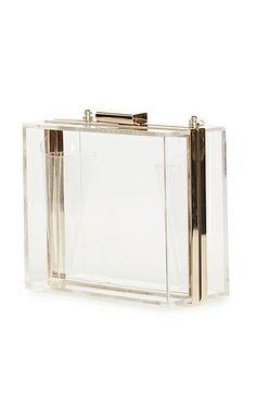Mini Lucite Box Clutch//