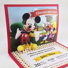 Convite Mickey Luxo Grande www.anaconvites.com.br