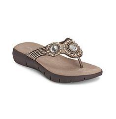 "Aerosoles® ""Wip N Slide"" Thong Sandals at www.younkers.com"