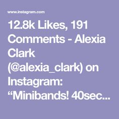 """12.8k Likes, 191 Comments - Alexia Clark (@alexia_clark) on Instagram: """"Minibands! 40seconds on 20seconds rest! (Make sure you do both sides on exercise 3!) 3-5 rounds!…"""""""