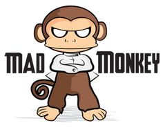 Mad Monkey Logo design - Cool fun edgy style logo, design more for a creative service type business. Currently for sale just click image to go to website for details. Price $155 OBO