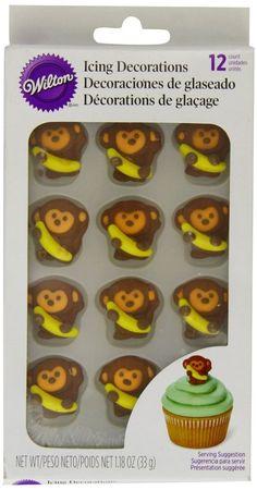 Wilton AFFEE DSCHUNGEL Royal Zuckerguss Muffins Party Bunt Topper Lustig in…