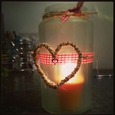 Homemade frosted candle holders