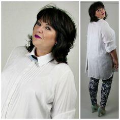 Studio lange witte blouse coll