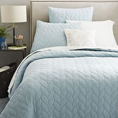 Braided Quilt + Shams - Light Pool - Pretty Color