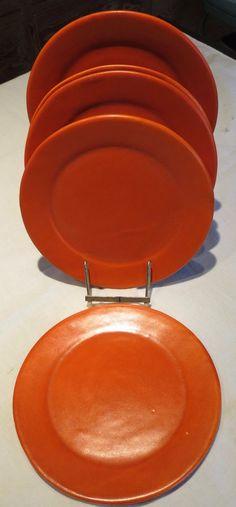 """California pottery Tudor 9"""" plates"""