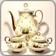 1950s Mid Century Tea Pot Lidded Sugar by AntiqueBoutiqueIdeas This beautiful vintage tea set went to Canada...