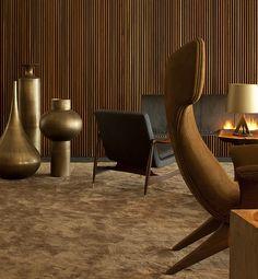 Interior by architect Marcio Kogan: Jorge Zalszupin, Dinamarquesa armchair (in the middle), Brazil. 1959. / Afflante