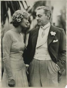 Portrait of John Barrymore (1892-1942) with Ethel Barrymore (1879-1959), circa 1930's