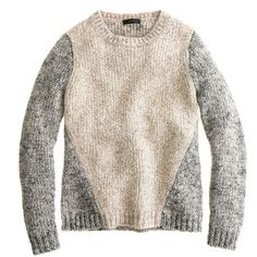Marled contrast-sleeve sweater - Pullover - Women's sweaters - J.Crew