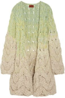 Missoni Bois alpaca-blend cable-knit cardigan