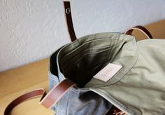 Waxed Canvas and Leather Satchel // Slate Blue Gray // by infusion
