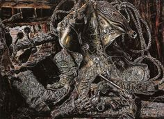 The Wild Bunch (Hole in the Wall Gang) - Ivan Albright - oil