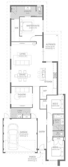 Home Design Floor Plans, Plan Design, Single Storey House Plans, Built In Robes, Cottage Plan, Display Homes, Design Strategy, Build Your Dream Home, Dream House Plans