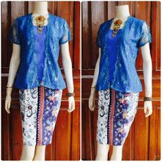 model baju batik broklat kebaya biru motif gentong Kebaya, Skirts, Fashion, Moda, Skirt Outfits, Fasion, Trendy Fashion, Kebaya Muslim, Skirt