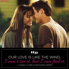 """Our love is like the wind."""