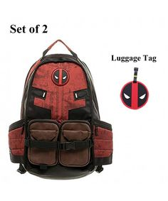d406f5dcd7d Deadpool Backpack Laptop Outdoor Sports Backpack for Boys School Bag -  C218EUCH3A8
