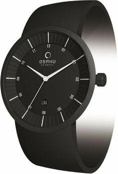 Obaku Men's V121GBBVB Black Leather Quartz Watch with Black Dial Obaku. $130.50. Mineral Crystal. Quartz Movement. 41mm Case Diameter. 30 Meters / 100 Feet / 3 ATM Water Resistant