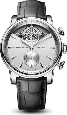 Arnold & Son TEC1 1CTAG.S01A.C113G.The TEC1 wristwatch is at once both alluring and intriguing. It masterfully integrates three complexities never before combined by the brand in such an elegant rendition. A tourbillon, a column wheel chronograph and an automatic winding system deftly blend in a superb avant-garde yet classic new timepiece. The TEC1, the brand's third tourbillon, joins the sophisticated Royal Collection, which is inspired by the timepieces created in the early part of John A