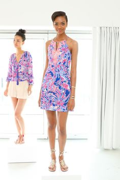 Two looks from Lilly Pulitzer's resort 2016 presentation. Photo: Lilly Pulitzer.
