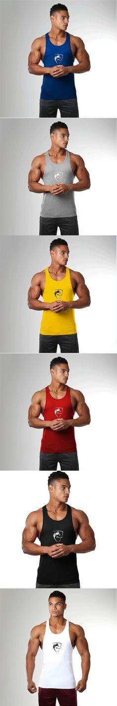 New Brand clothing Bodybuilding Fitness Men gyms Tank Top Golds Vest crossfit sportswear Undershirt