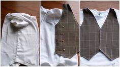 Little Gentleman's Faux Vest Onesie